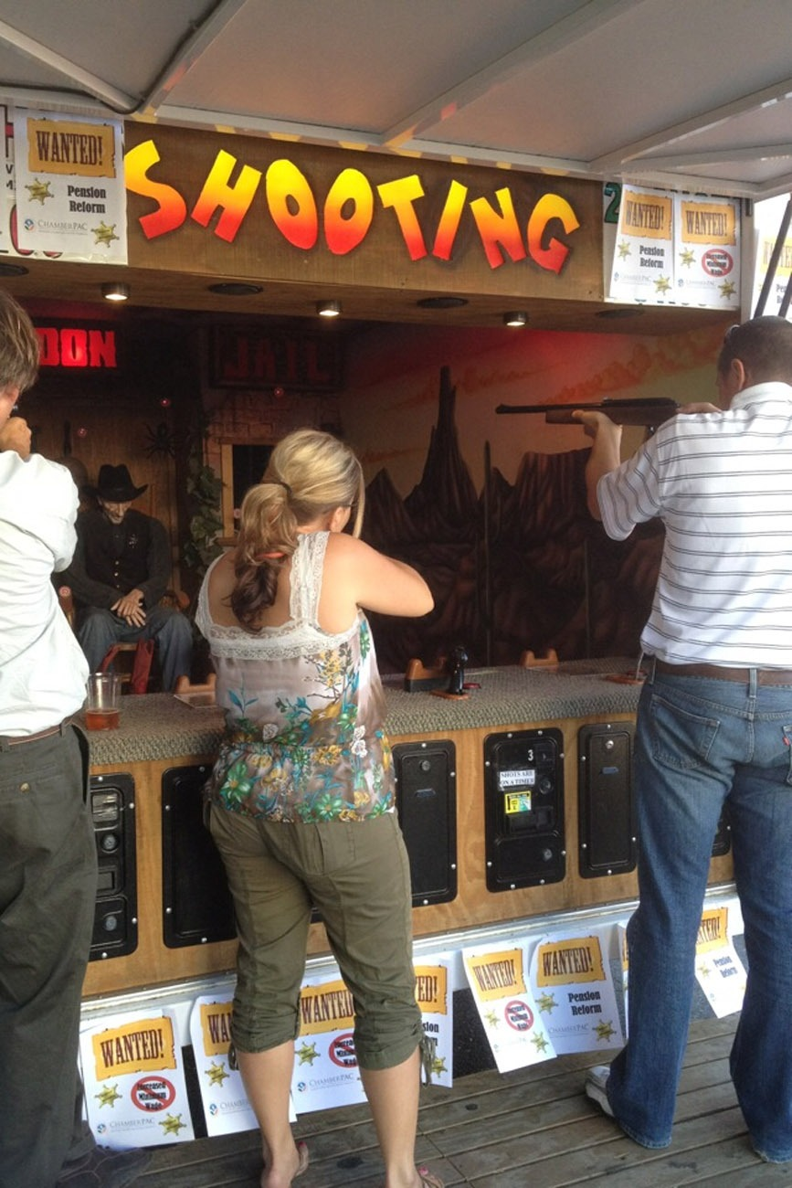 Old West Shooting Gallery Lets Party