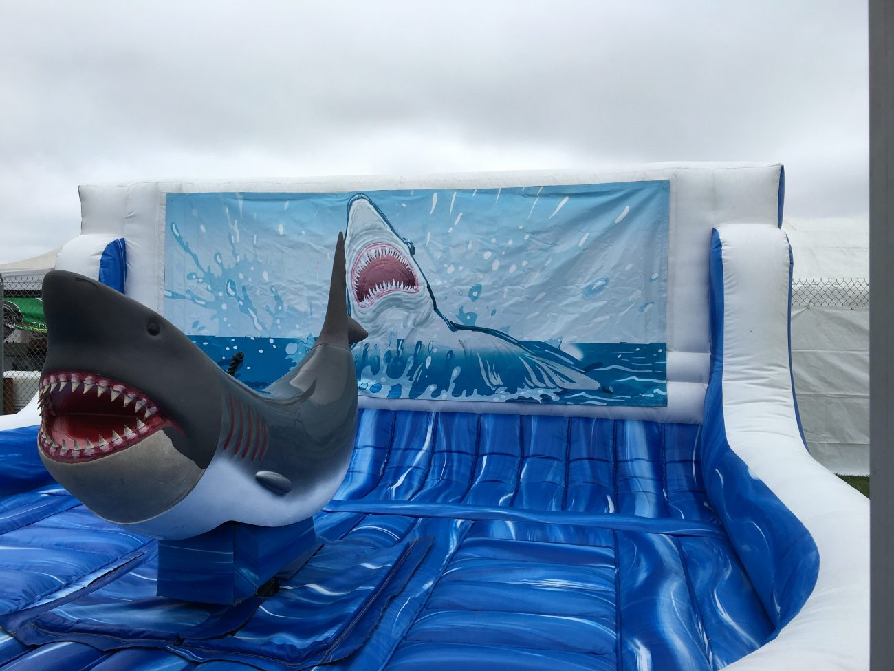 Inflatable Mechanical Shark Ride Lets Party