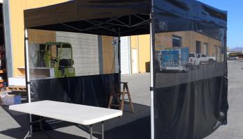 10ft x10ft Custom Tents (black) or (white)