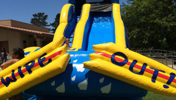 19ft Inflatable WipeOut Slide Dry/Wet
