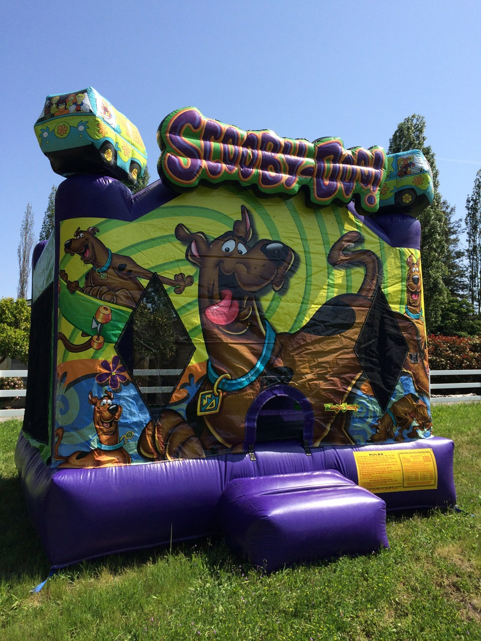 Racing Games For Boys >> Scooby Doo Inflatable Bouncer - Lets Party