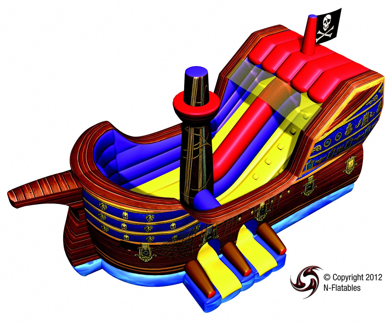 Pirate Ship Inflatable Combo Lets Party