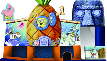 SpongeBob 3d Inflatable 5 In 1 Combo