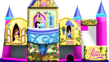 Disney Princess 3D Inflatable 5 In 1 Combo