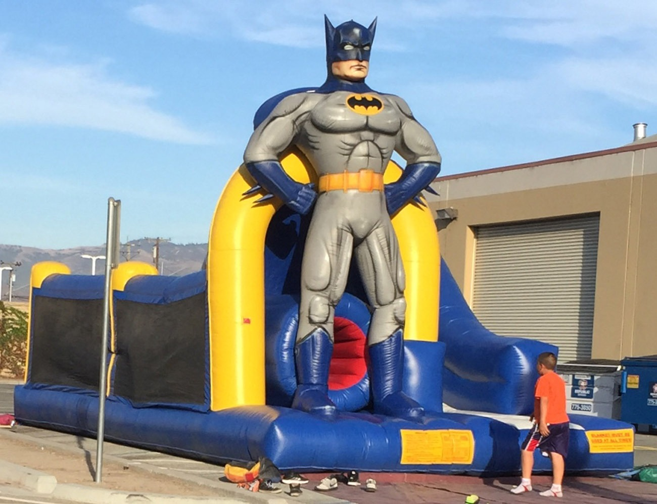 Batman Inflatable Obstacle Course Lets Party