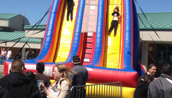 27ft Cliff Hanger Inflatable Slide