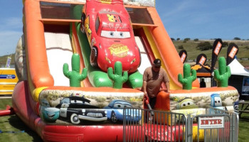 22ft Cars Inflatable Slide