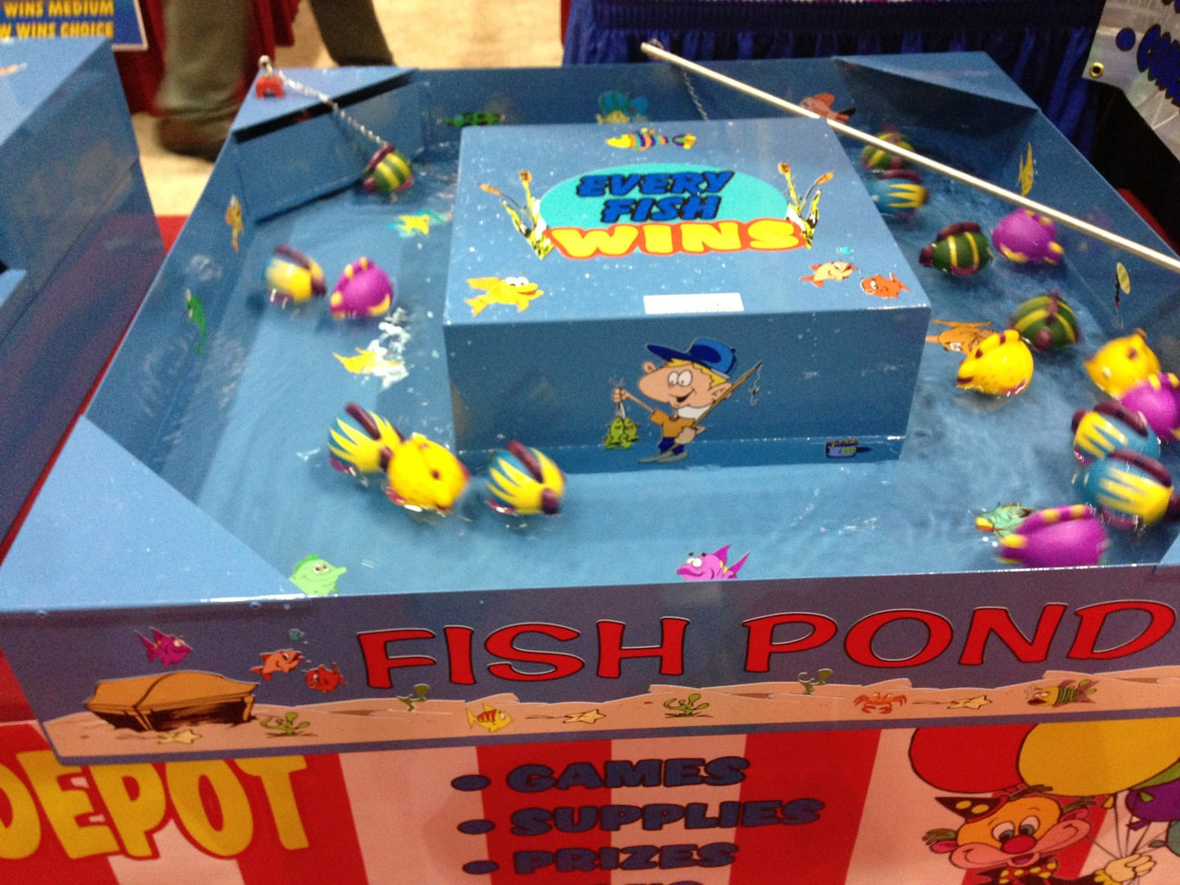Fish pond water game lets party for Fish pond game