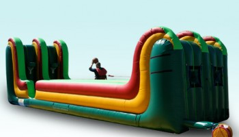 2 Lane Inflatable Bungee Run Basketball