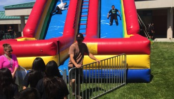 24ft Inflatable Event Double Lane Slide