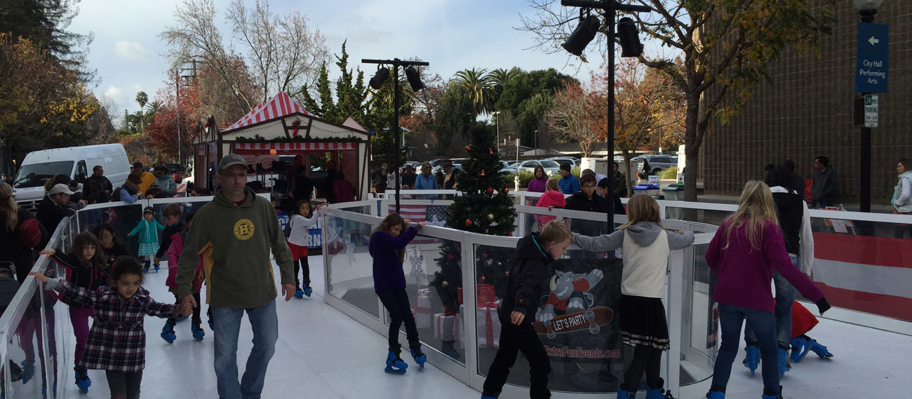 Portable Synthetic Ice Skating Rink Rental