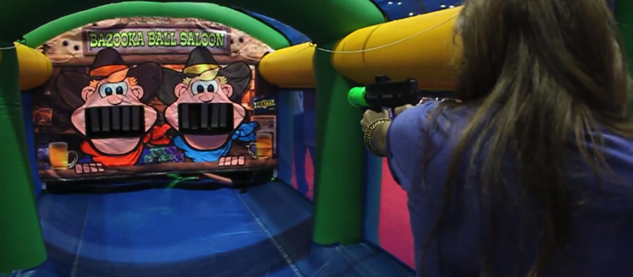 Inflatable Bazooka Ball Shooting Gallery