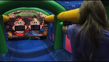 Inflatable Bazooka Ball Shooting Gallery