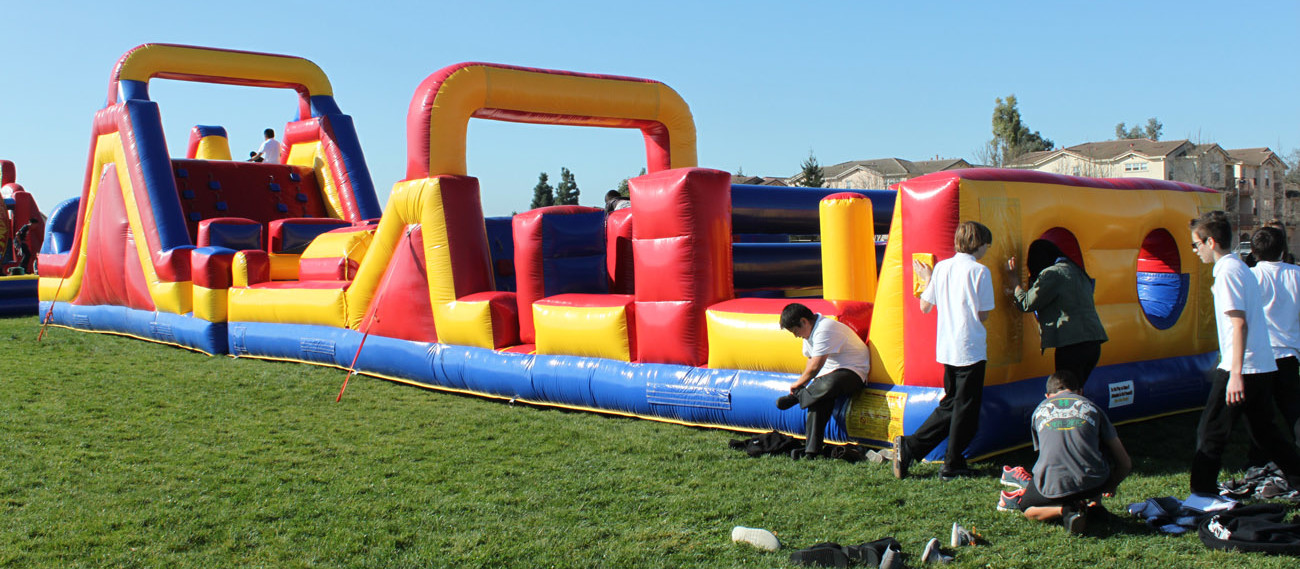 70 ft Inflatable Obstacle Course