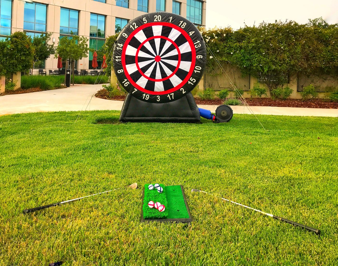 Inflatable Velcro Golf Dart Rental California