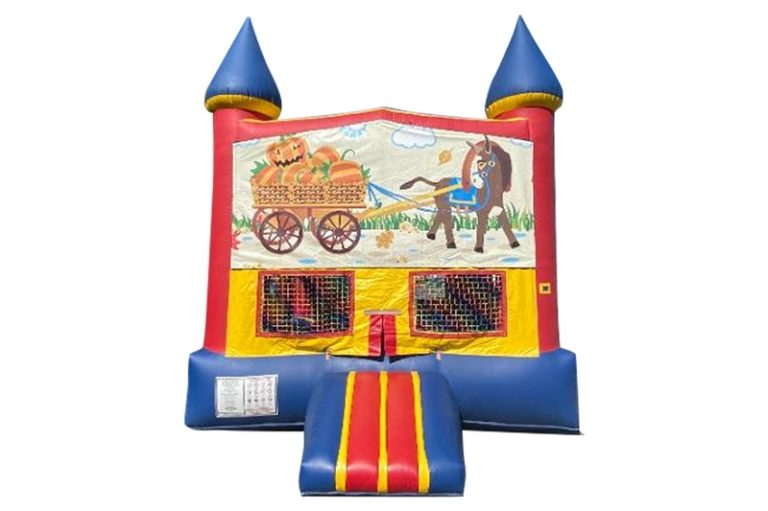 halloween pumpkin bounce house rental