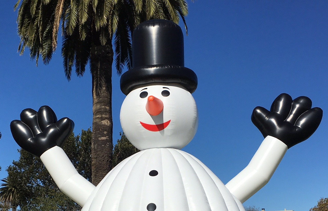 Snowman Inflatable Bounce House