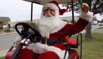 Christmas Santa Golf Cart