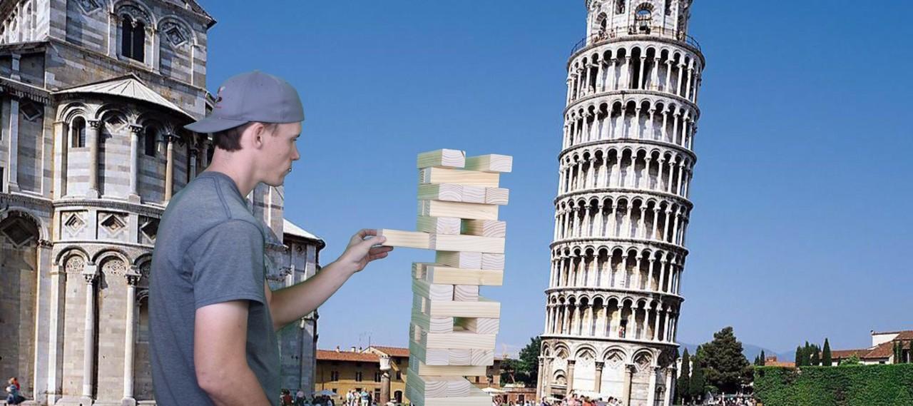Giant Jenga Tumbling Tower Game Rental