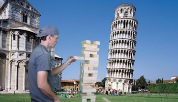 Giant Jenga Tumbling Tower Game Rental