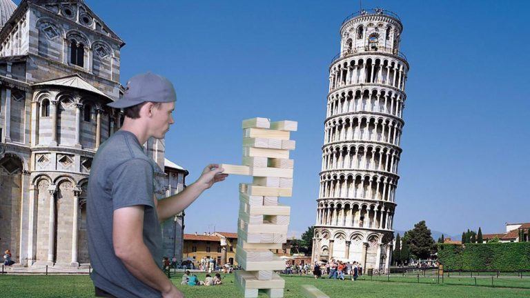 Giant Jenga Rental - Tumbling Tower Party Game