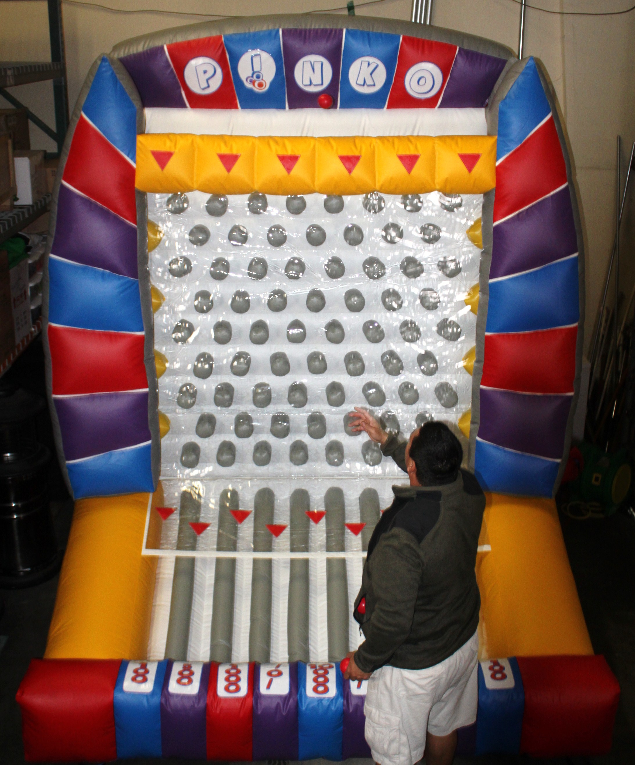 San Jose Car Dealerships >> Inflatable Plinko Game Rental - Lets Party