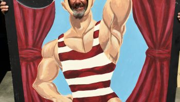 Strongman Carnival Picture Cutouts
