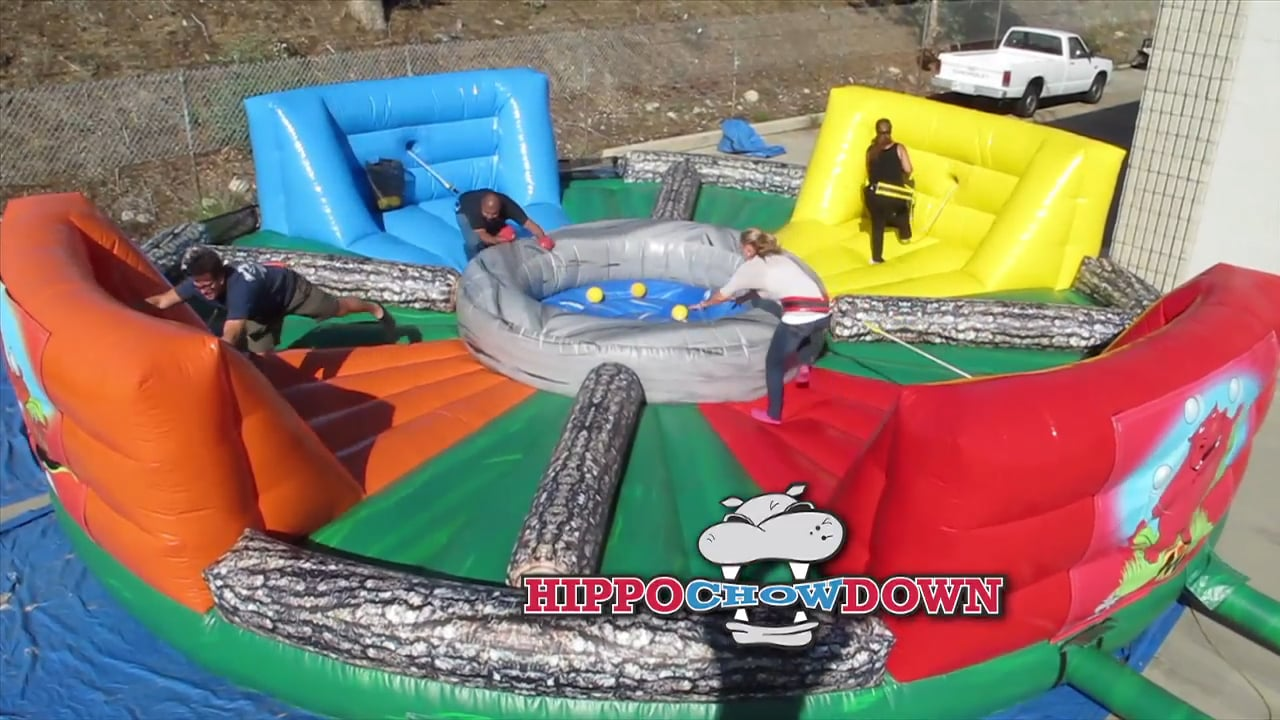 Inflatable Hungry Hippo Chow Down Game