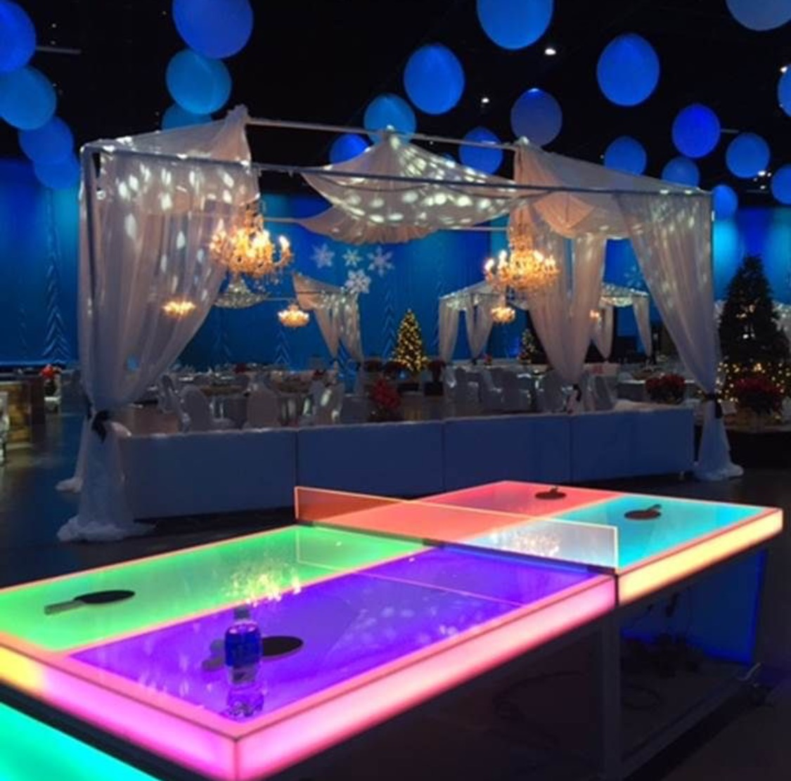 Led Lighted Ping Pong Table Rental Lets Party