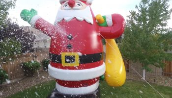 Snow Machine Rental Inflatable Santa Claus
