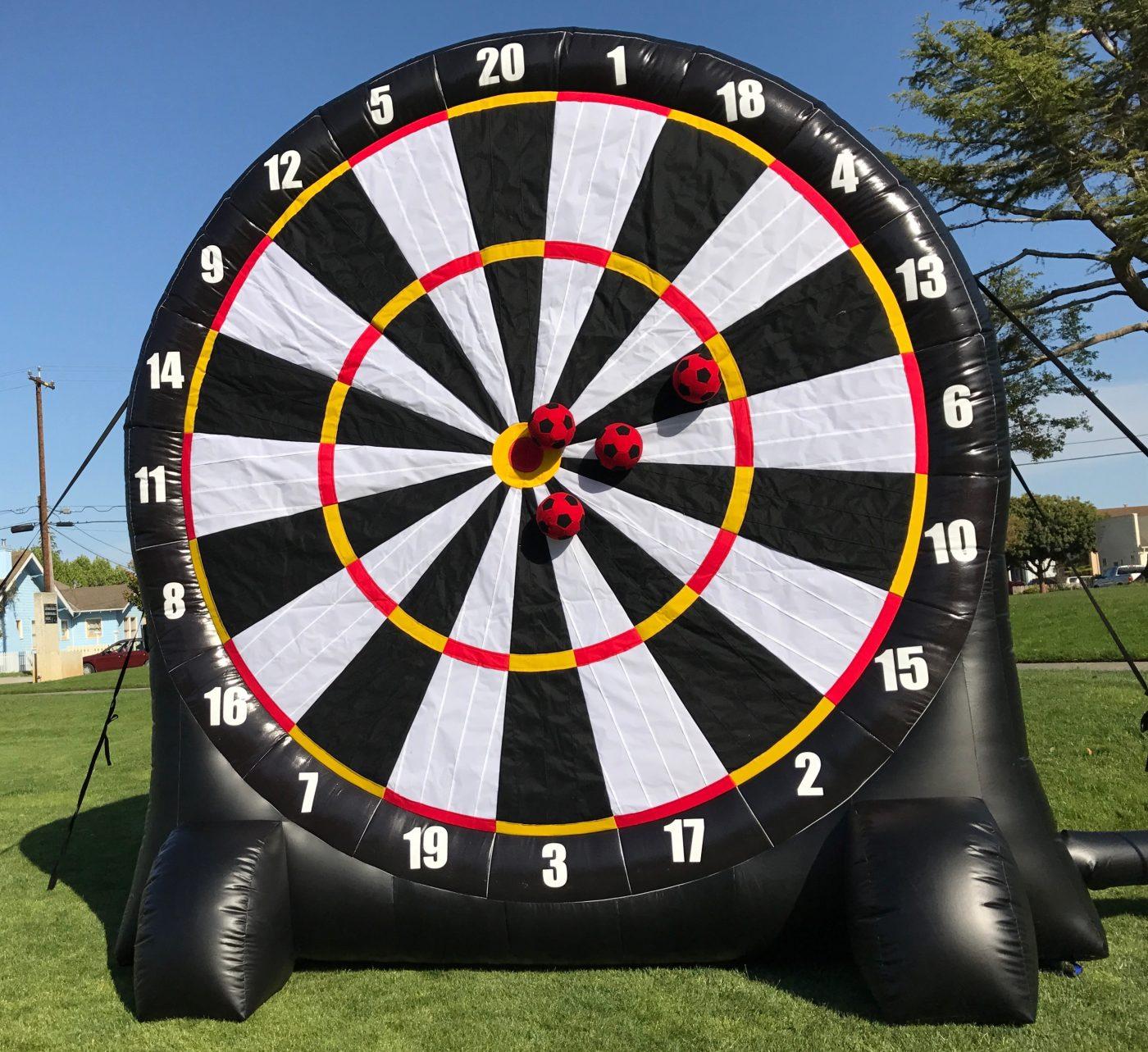 Giant Velcro Soccer Dart Game Rental San Jose