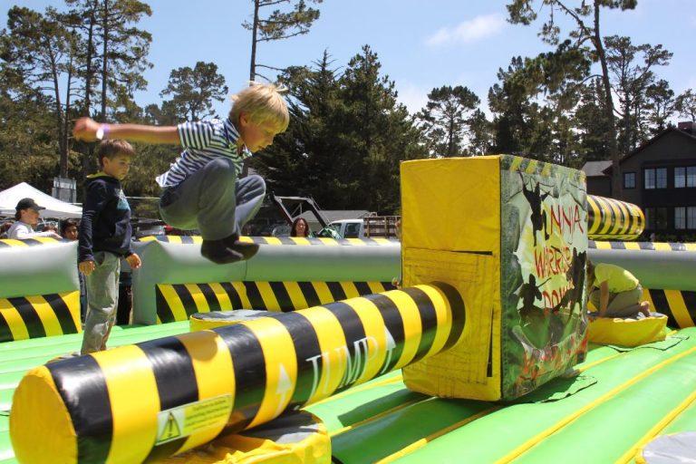 meltdown inflatable game rental
