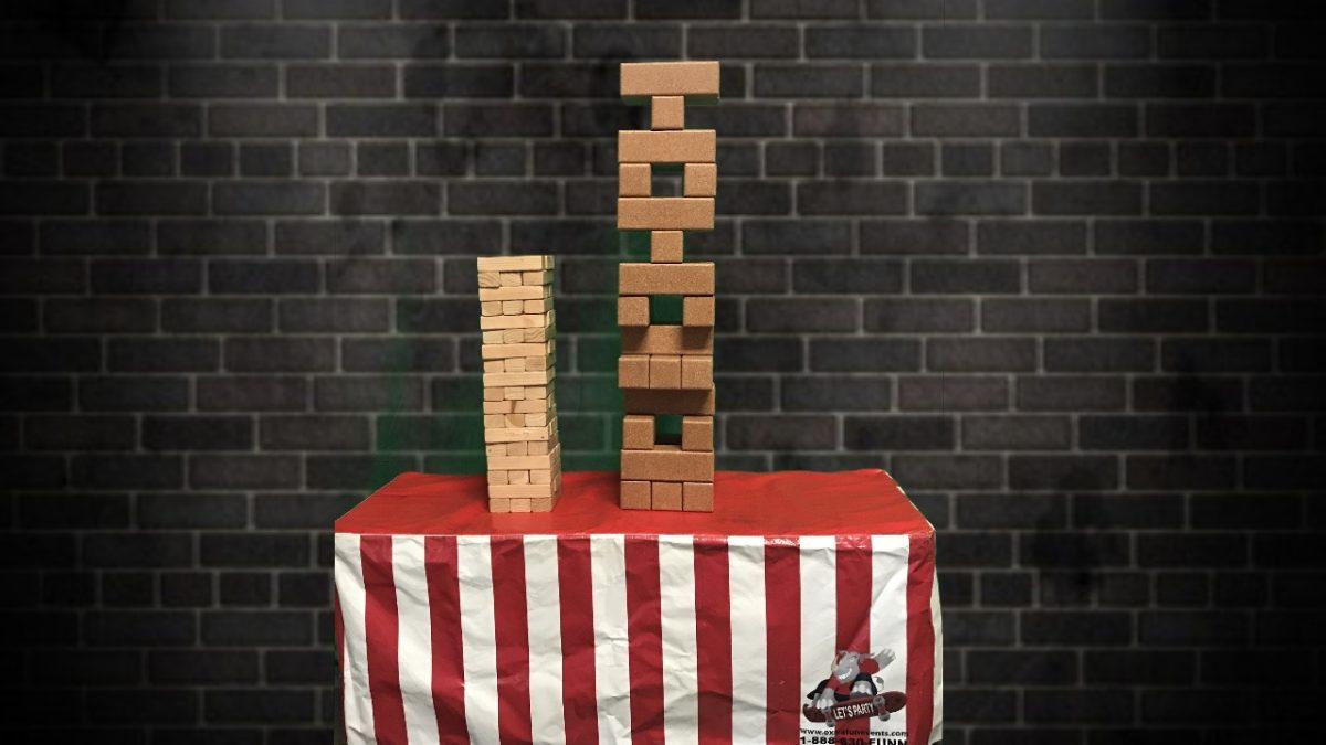 Giant Cork Jenga Game Rental