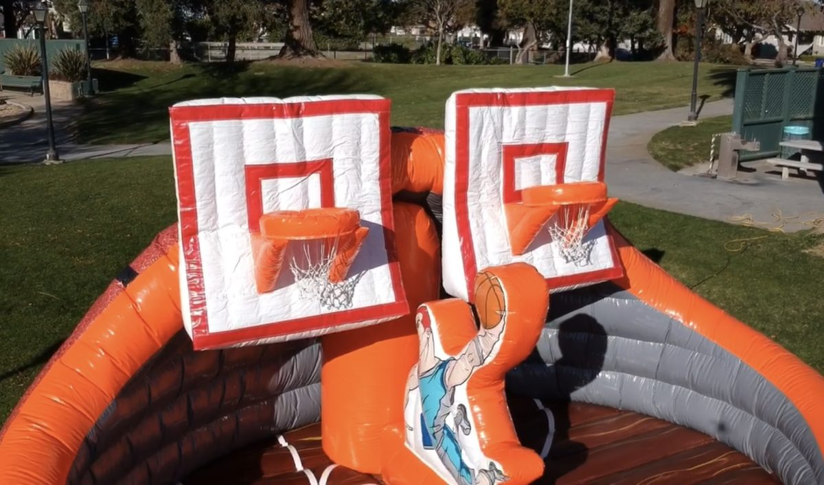 Slam Dunk Inflatable Basketball Court Game