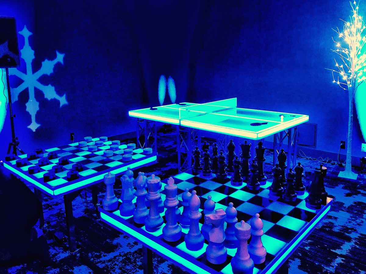 Giant Led Chess Game Rental Giant Led Glow Games For