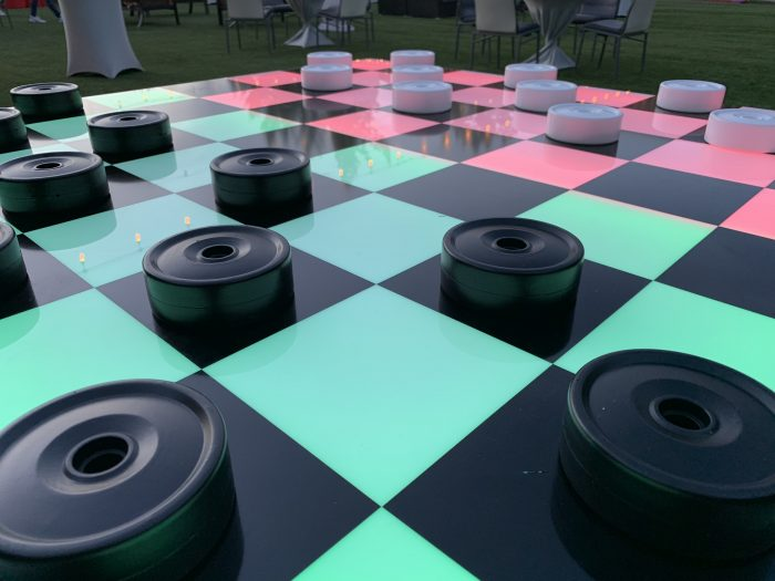 light up checkers game rental
