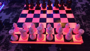 LED Giant Chess Board Game Rental San Jose