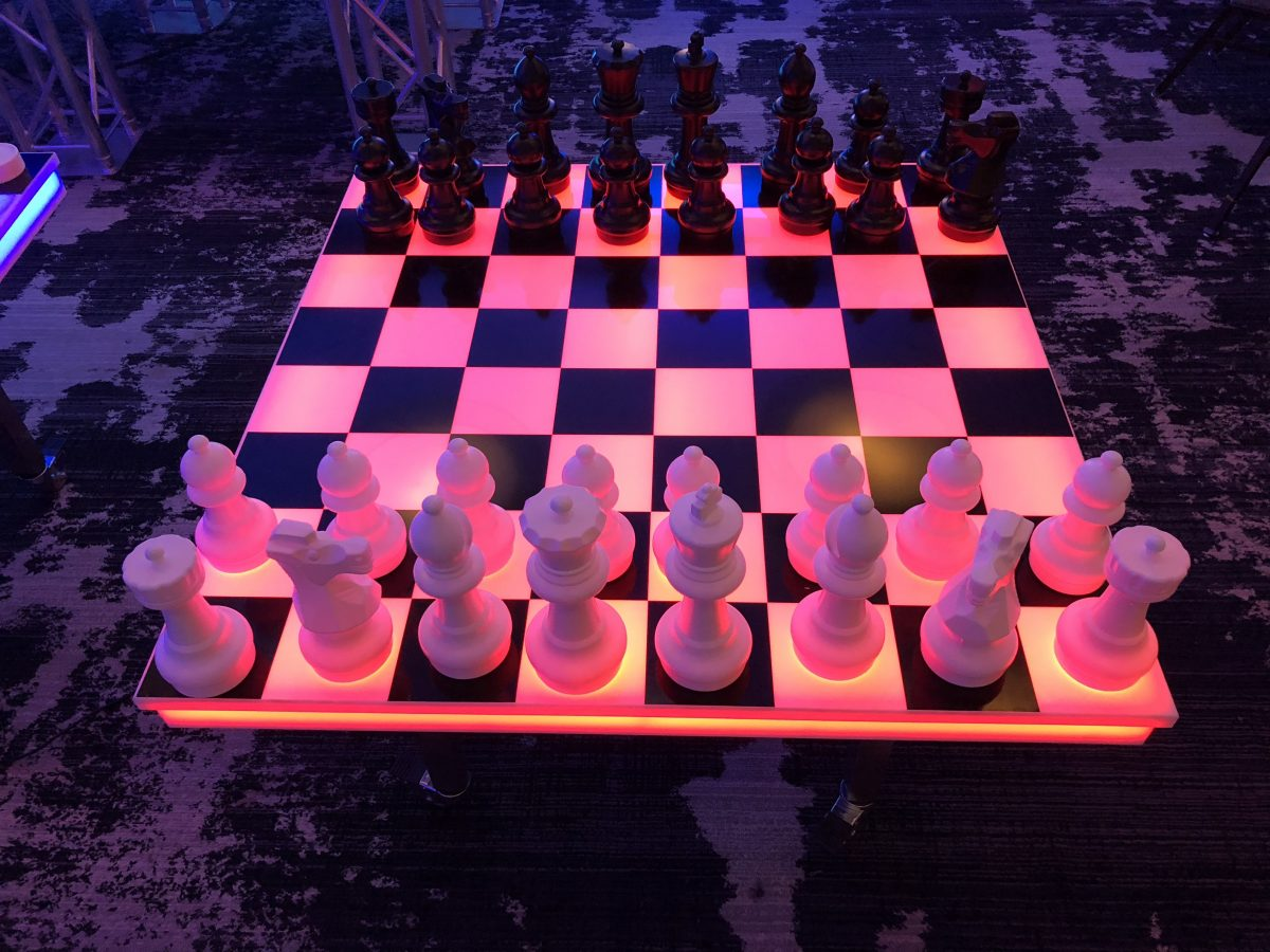 LED Giant Chess Game Rental Bay Area