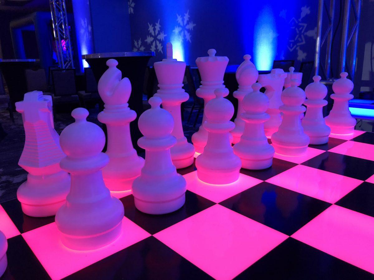 Glowing Chess Game Rental San Francisco