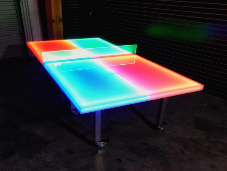 Glow Ping Pong Table