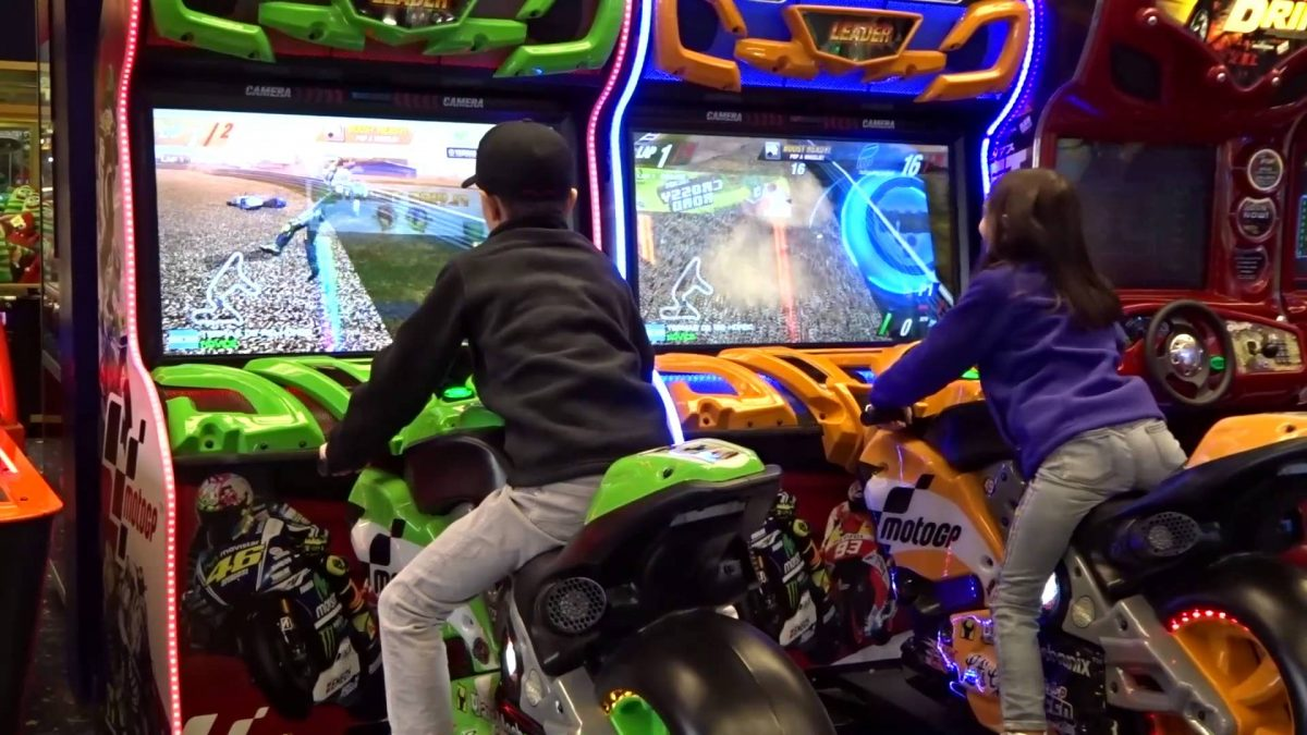 Motorcycle Arcade Game Rental San Francisco Bay Area