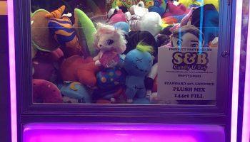 LED Glowing Arcade Crane Machine Rental