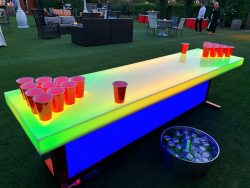 lighted beer pong table rental