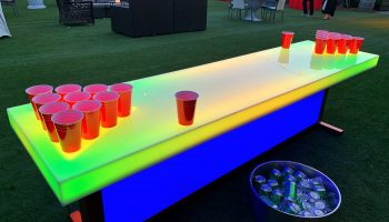 Lighted Beer Pong Table