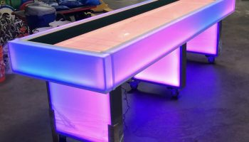 Led lighted shuffleboard game rentals San Francisco Bay Area