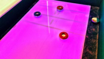 LED Lighted Shuffleboard Game Rental