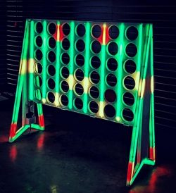 Giant Glowing LED Connect 4 Game
