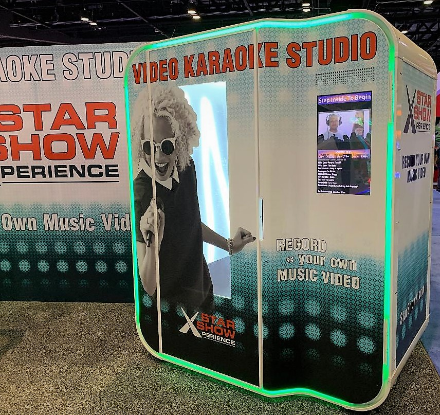 Karaoke Machine Rental with Video Recording Booth