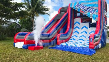 Ninja Inflatable Warped Wall Rental