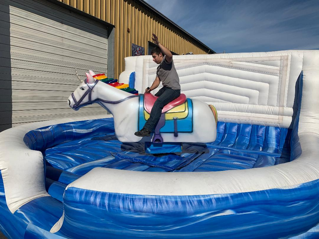 Mechanical Unicorn Bull Ride